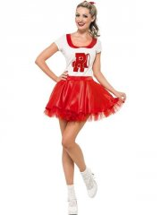smiffys - sandy cheerleader costume - medium (25873m) - Udklædning Til Voksne