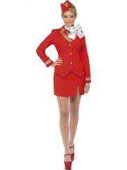 smiffys - trolley dolly costume red - large (33873l) - Udklædning Til Voksne