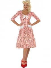 smiffys - ww2 sweet heart costume - medium (39384m) - Udklædning Til Voksne