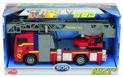 legetøjs brandbil med udrykning og blå blink  - Køretøjer Og Fly