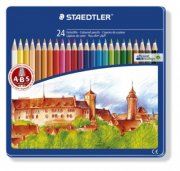 staedtler - noris club - coloured pencils in tin case, 24 pcs (145cm24) - Kreativitet