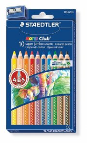staedtler - noris club super jumbo coloured pencils, 10 pcs (129 nc10) - Kreativitet