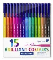 staedtler - triplus brilliant colour, 15 tusser - Kreativitet