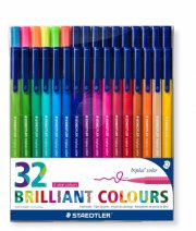 staedtler - triplus brilliant colour, 32 tusser - Kreativitet