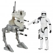 star wars - force awakens stormtrooper (30cm) & assault walker (b3919) - Figurer