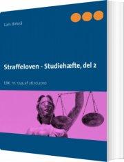 straffeloven - studiehæfte, del 2 - bog