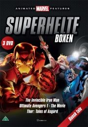 superhelte boksen - the invincible iron man / ultimate avengers 1 - the movie / thor: tales of asgard - DVD