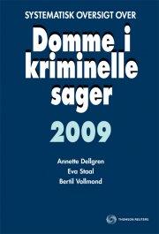systematisk oversigt over domme i kriminelle sager 2009 - bog