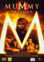 the mummy trilogy - mumien / mumien vender tilbage / mumien - dragekejserens grav - DVD