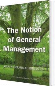 the notion of general management - bog