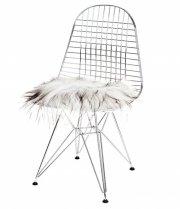 skind til stol - the organic sheep - 40 x 40 cm - grå - Til Boligen