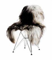 skind til stol - the organic sheep - 70 x 100 cm - sort/hvid - Til Boligen
