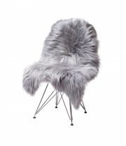skind til stol - the organic sheep - 70 x 100 cm - sølv - Til Boligen