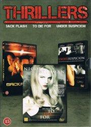 thrillers boks - backflash / to die for / under suspicion - DVD