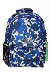 ticket to heaven børnehavetaske / børnehave rygsæk - blå camouflage - Skole