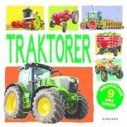traktorer i boks med 9 bøger  - puslespil