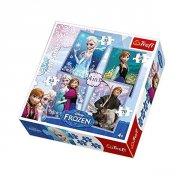frost puslespil børn - 4 i 1 - 35-70 brikker - trefl - Brætspil