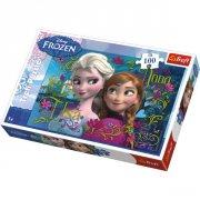 anna og elsa puslespil - disney frost - Brætspil