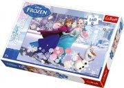 trefl puzzle - disney frost - ice skating - 160 brikker - Brætspil