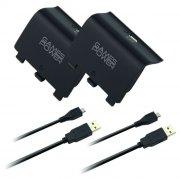 xbox one - controller dobbelt ladestation inklusiv batterier - Konsoller Og Tilbehør