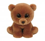 ty beanie boo bamse - brownie brown bear - 33 cm - Bamser