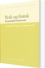 tysk og fransk - bog