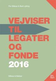 vejviser til legater og fonde 2016 - bog