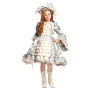veneziano dronning kostume - marie antoinette - 7 år - Udklædning