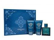versace - eros - 50 ml eau de toilette + 50 ml shower gel + 50 ml as balm - gavesæt - Parfume