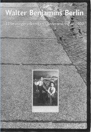 walter benjamins berlin - bog