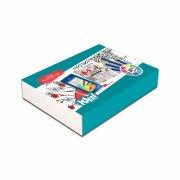 west design - sæt med malebog og 12 fc art grip - japanese inspirations - Kreativitet