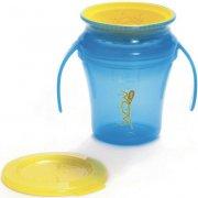 wow spildfri kop / drikkekop til baby - blå - Babyudstyr