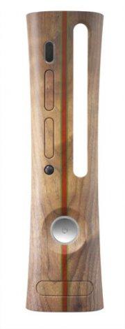 xbox 360 - skin - woody - Konsoller Og Tilbehør