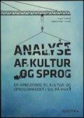 analyse af kultur og sprog - bog