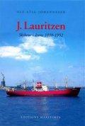 j. lauritzen - skibene i årene 1888-1952 - bog