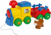 legetøjstog - tog med dyr - 26 cm - abc - Babylegetøj