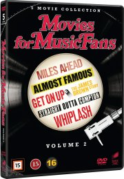 straight outta compton // whiplash // almost famous // miles ahead // get on up: the james brown story - DVD