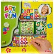 art & fun klistermærker - 1000 stk - Kreativitet