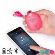 audiosonic sk1513 trådløs bluetooth højttaler i pink - Tv Og Lyd