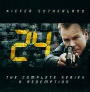 24 Timer Boks - Komplet Samling - Sæson 1-8 + Redemption I Box - DVD - Tv-serie