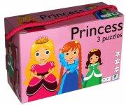 puslespil til børn med prinsesser - 3 stk - Brætspil