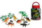 6 dinosauer i spand inkl. tilbehør - Figurer