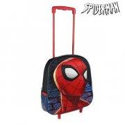 3d spiderman skoletaske med hjul  - Skole