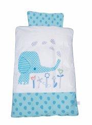 baby dan - baby sengesæt elefantastic blå - Babyudstyr