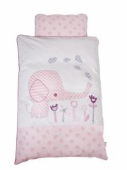 baby dan - baby sengesæt elefantastic pink - Babyudstyr