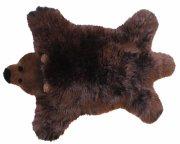 baby dan - bjørn lammeskind 80x130 cm - brun bjørn - Til Boligen