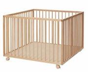 baby dan - comfort stor kravlegård 99x99x73 cm - natur - Babyudstyr