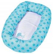 baby dan cuddle babynest - medium elefantastic i blå - Babyudstyr
