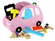 barbapapa legetøj - legetøjsbil i pink træ - Køretøjer Og Fly