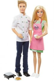 barbie og ken dukker på cafe - Dukker